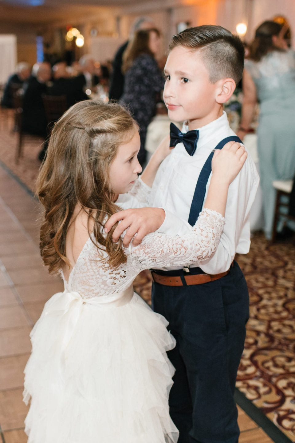 kids dancing during wedding reception photographed by Ashley Mac Photographs