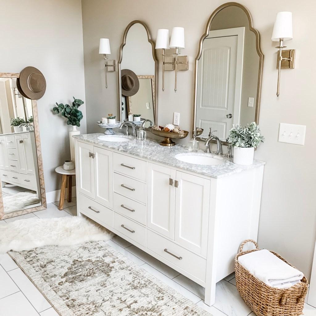 White Marble Vanity