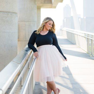 Classy in Charlotte Russe: Blush Tulle Midi Skirt