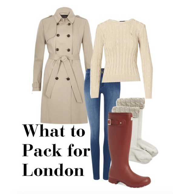 What to pack for London