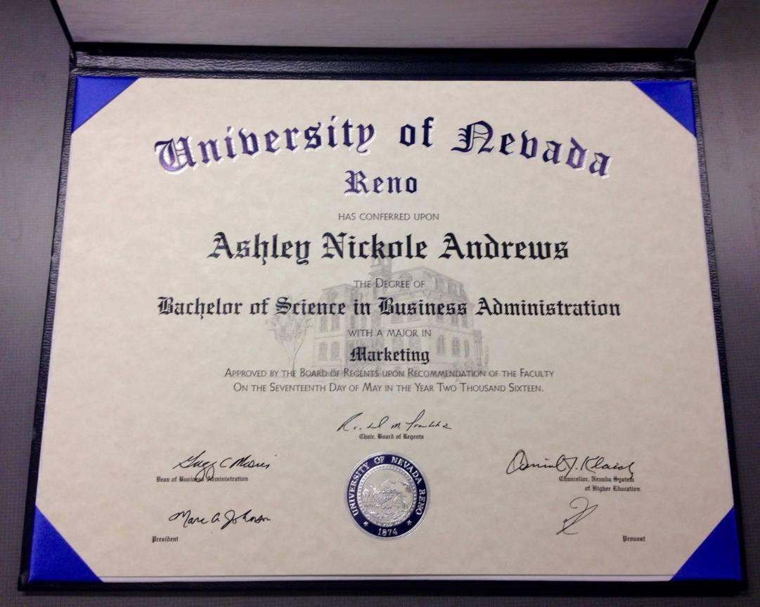 Andrews Ashley Nickole BSBA Marketing