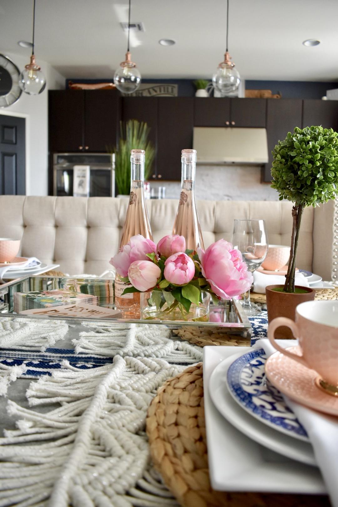 Ashley Nicole Interiors Summer Rosé Tablescape