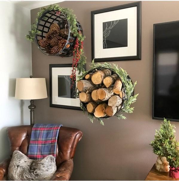 Ashley Nicole Interiors DIY Basket Wall