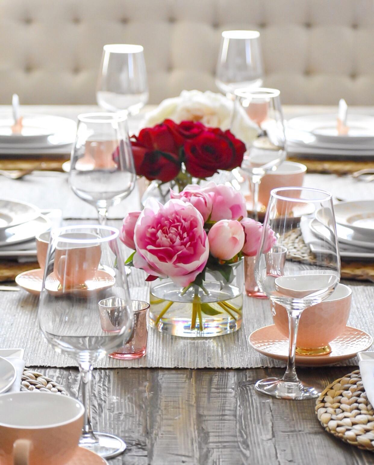 Ashley Nicole Interiors Valentine's Tablescape