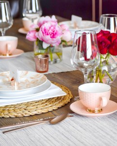 Ashley Nicole Interiors Valentine's Day Tablescape