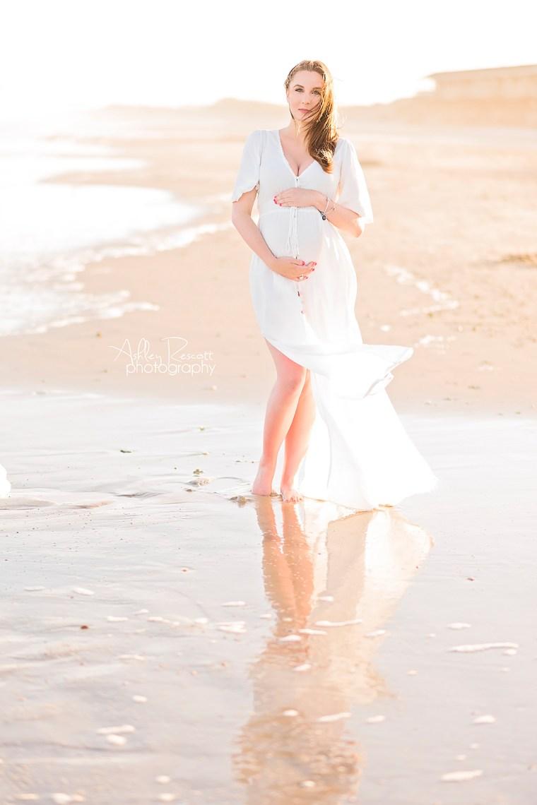 Maternity photo on beach