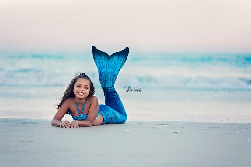 mermaid on beach