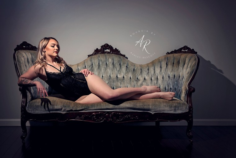 Portfolio image of dramatic light boudoir on a couch