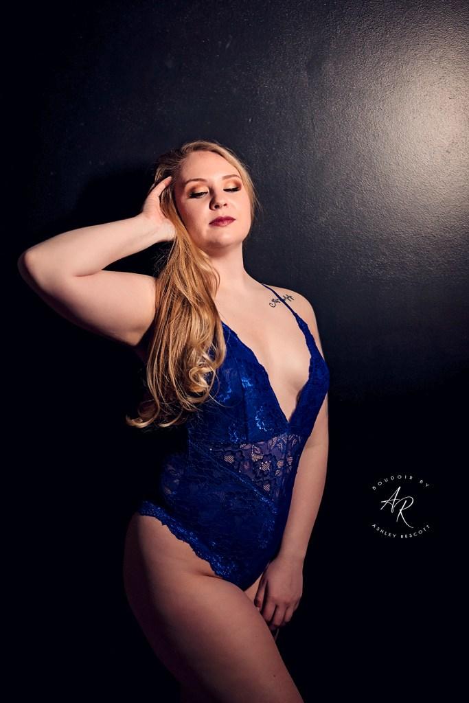 boudoir model standing