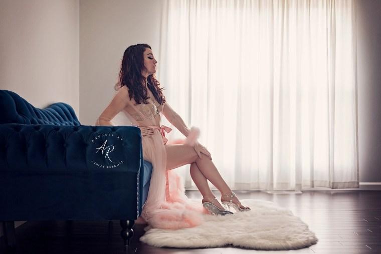 boudoir woman couch