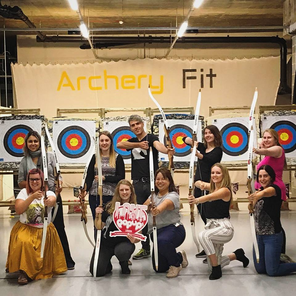 Firing Arrows at Archery Fit