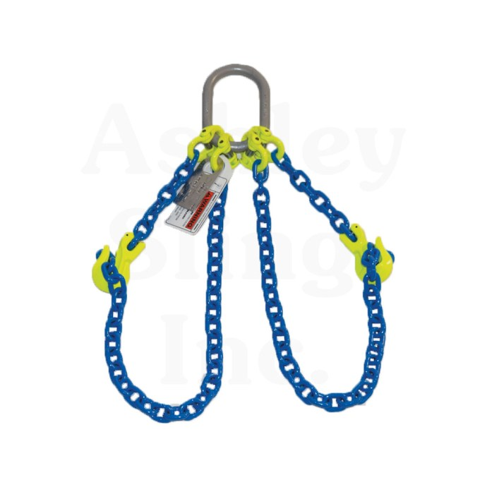 Double Adjustable Loop Alloy Chain Sling with Loops Shown