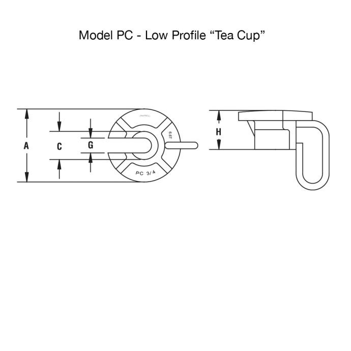 Low Profile Tea Cup Diagram