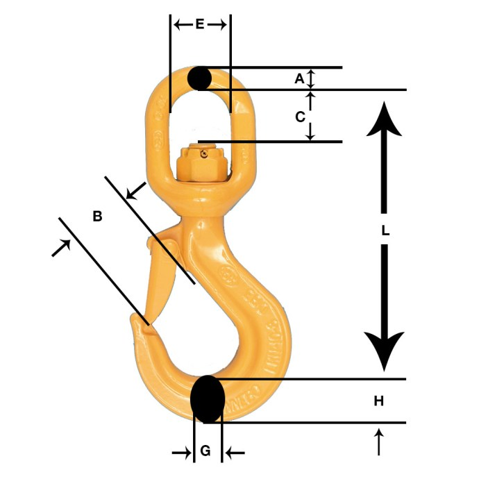 LKN Hook with dimensions