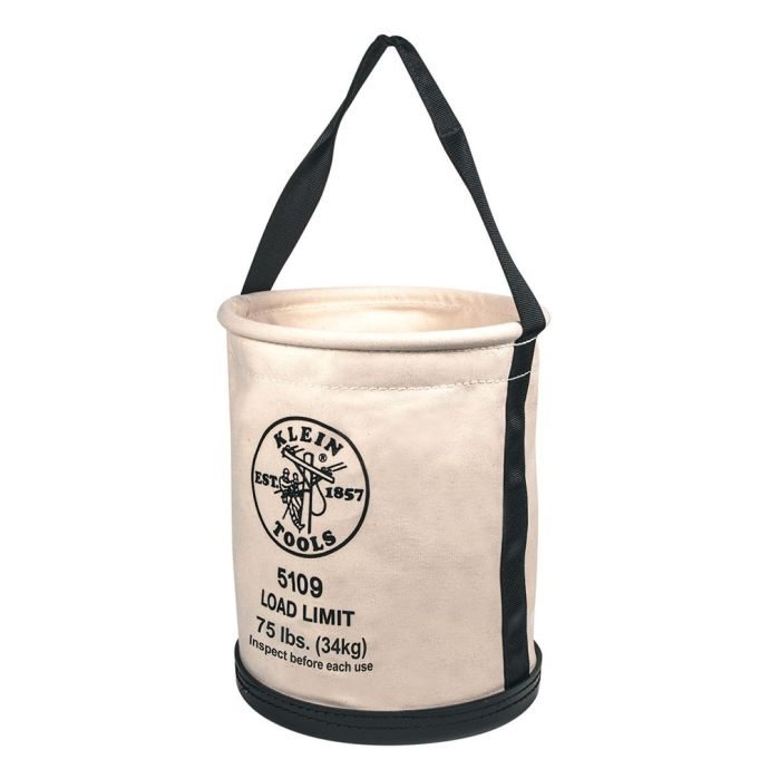 Canvas Bucket with Molded Bottom