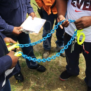 Alloy chain sling inspection