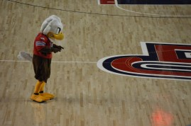 Liberty University's mascot Sparky