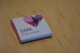 Dark chocolate from the dining hall