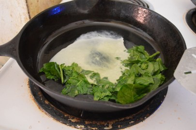 Spinach and egg whites