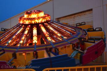 Spinning ride at Wonderland Pier