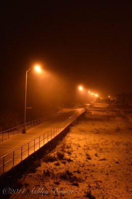 The boardwalk at night...so haunting.