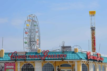 Christmas Gallery and ferris wheel on the boardwalk