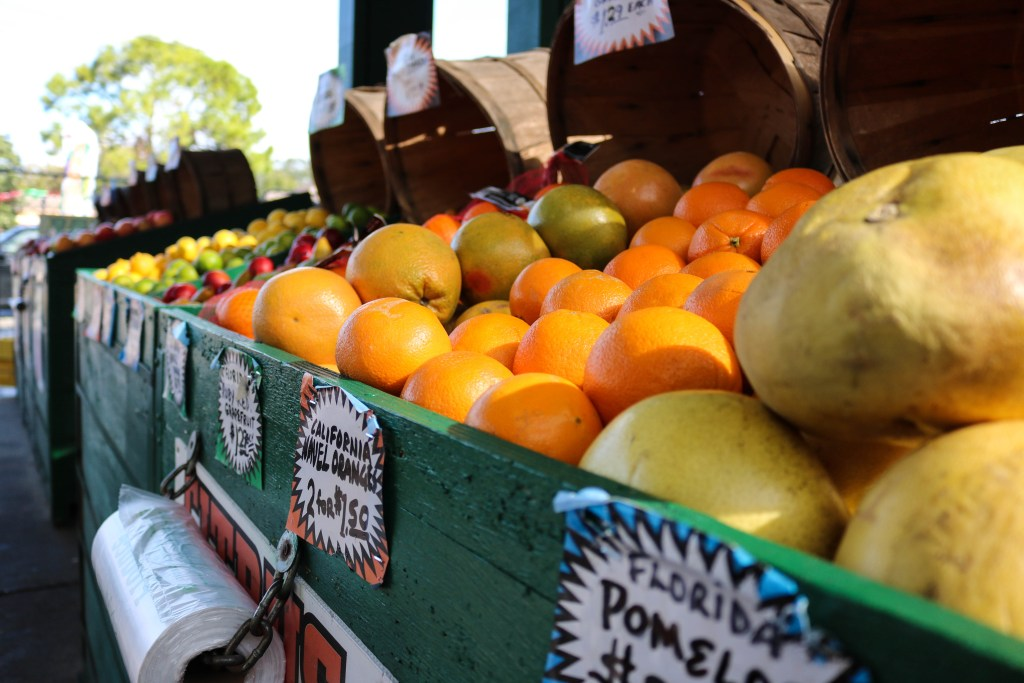 Oranges and Fruit at Local Produce Stand Taking Kids With You To Shop