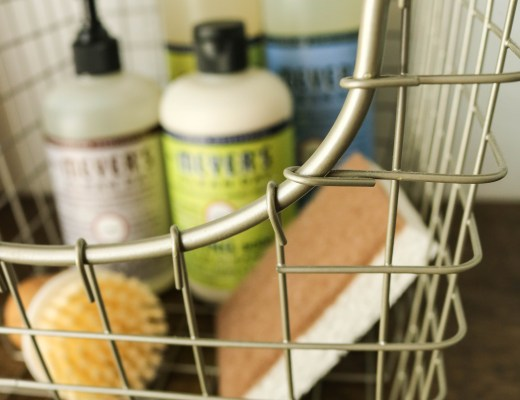 Basket Of Safe Natural Cleaning Products Mrs Meyers Delivered Less Expensive