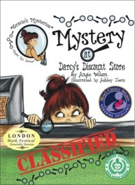 Gold Mom's Choice Award London Book Festival Honorable Mention Reader's Favorite International Book Award–Honorable Mention for Best Children's Grades 4-6 The Mystery at Darcy's Discount Store is the first book in The Gracie Super Spy Mystery Series Gracie is ready to begin her summer vacation, but her inquisitive mind takes her on an adventure that lands her in the hospital. Crutches and stitches do not slow her down, but opens up a new opportunity to help the employees at Darcy's solve a mystery. The story takes on a twist when the criminals are caught but merchandise is still disappearing. Gracie has an idea about the thief, but no one believes her. Can she convince the management to check out her lead?