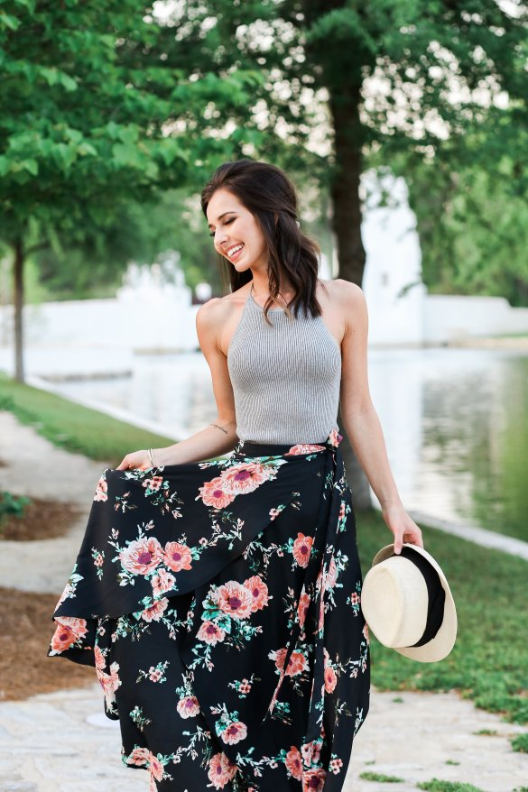 Beach Outfit Ideas by Ashley Hodges of AshleyTerk.com // Floral maxi skirt // How to style Marc Fisher Espadrilles // beach looks // summer outfit ideas // - Cute Beach Outfit Ideas featured by popular Los Angeles fashion blogger, Ashley Hodges