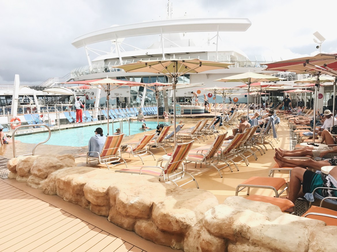 Pool on the Royal Caribbean Oasis of the Seas ship // travel // cruise ship - Oasis of the Seas Review featured by popular Los Angeles travel blogger, Ashley Hodges