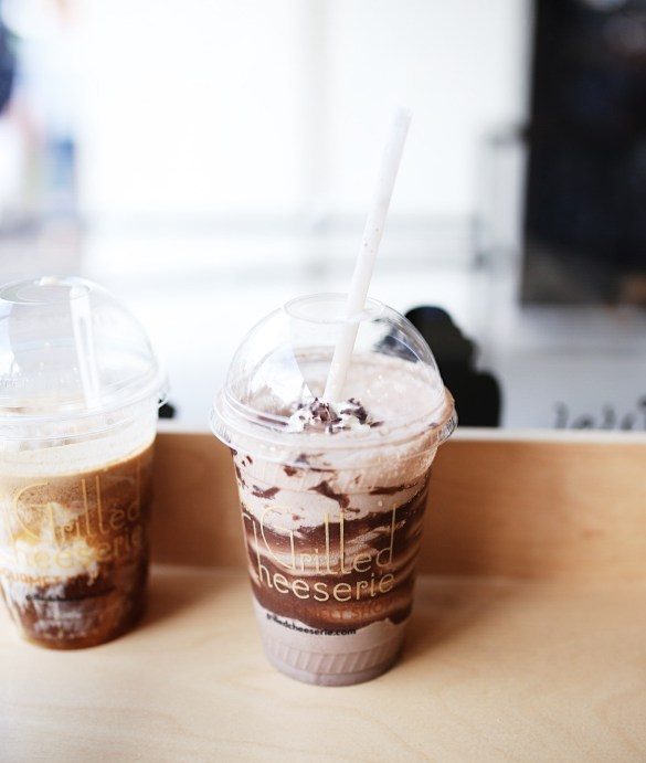 Grilled Cheeserie, Coffee Soda Float and Chocolate Milkshake - THE ULTIMATE NASHVILLE CITY GUIDE featured by popular Los Angeles travel blogger, Ashley Hodges