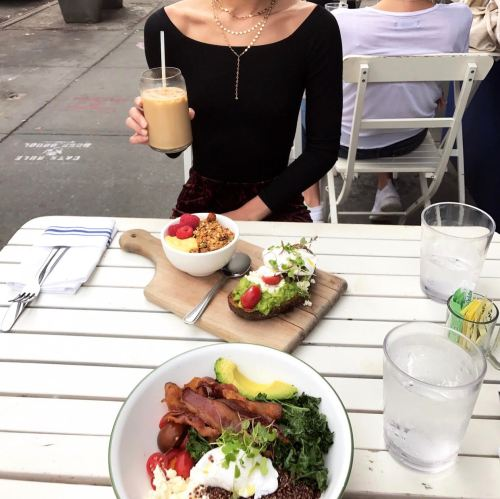 New York City Guide by Ashley Hodges // NYC // bluestone lane coffee // australian breakfast - New York City Guide, Where to Stay, Eat and Visit featured by popular Los Angeles travel blogger, Ashley Hodges