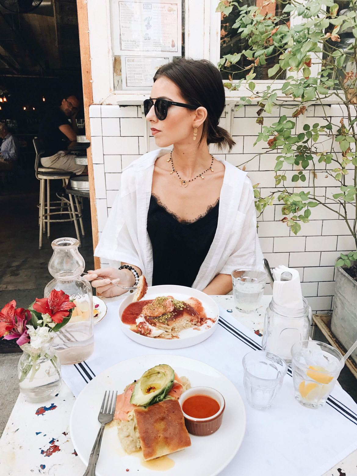 New York Fashion Week 2017 by Ashley Hodges of Ashley Terk // nyfw // NYC cafe // italian breakfast // pancakes // salmon // free people // nordstrom // diff eyewear
