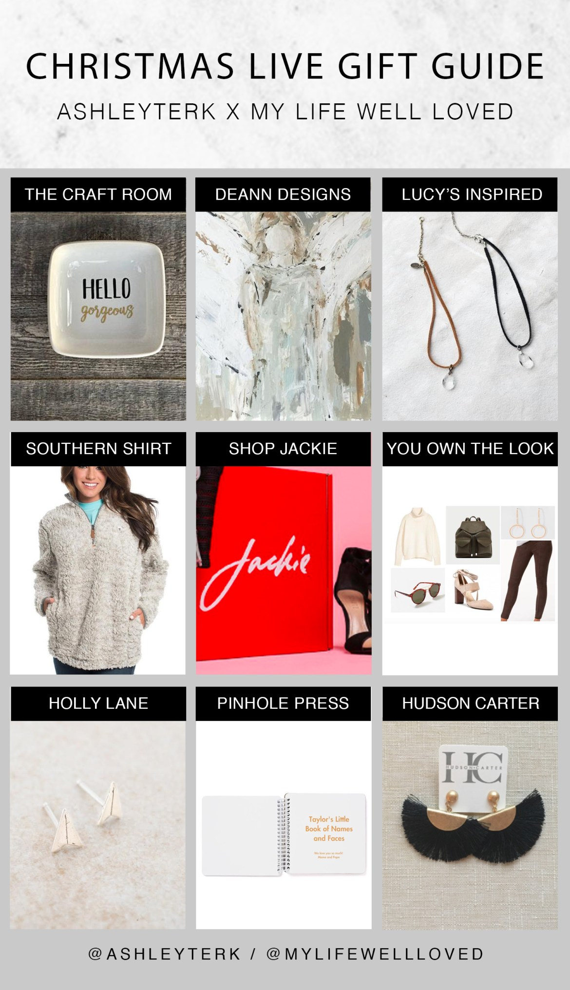Ashley Terk // My Life Well Loved // Christmas Live // Gift Guide // Lucy's Inspired // Southern Shirt // Shop Jackie // Holly Lane // The Craft Room // Deann Designs // Pinhole Press - Christmas Live Gift Guide Sneak Peek featured by popular Los Angeles life and style blogger, Ashley Hodges