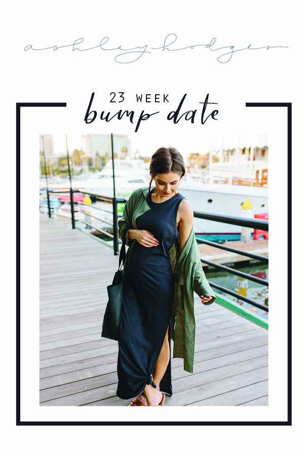 23 Weeks Pregnant Bump Update featured by popular Los Angeles lifestyle blogger, Ashley Hodges