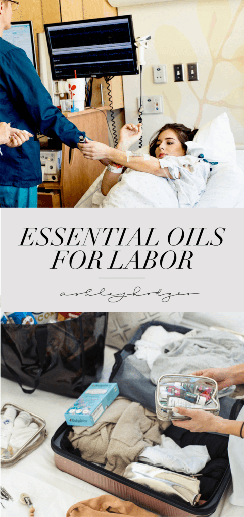 The Best Essential Oils for Labor featured by top US lifestyle blogger and new mom, Ashley Hodges