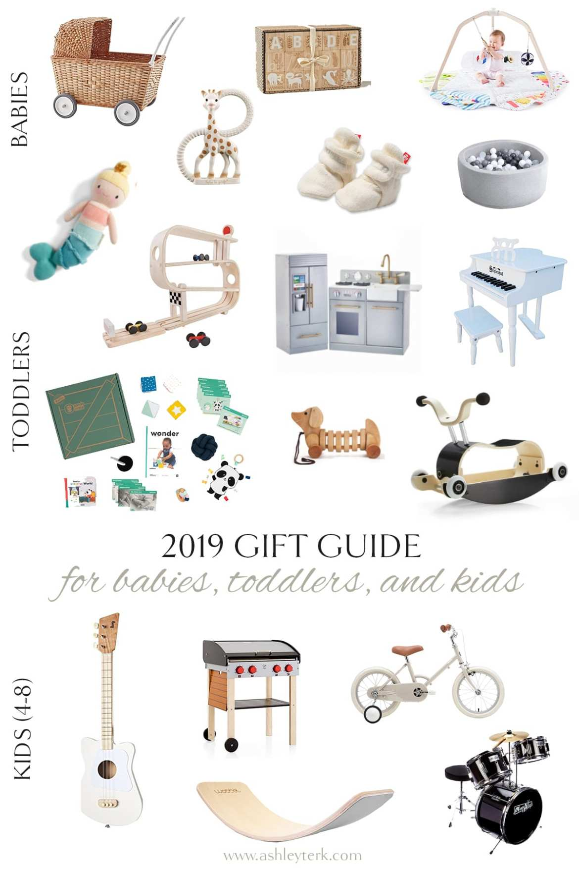 Gift Guide: The Best Gifts for Children by popular North Carolina life and style blogger, Ashley Terk: collage image of