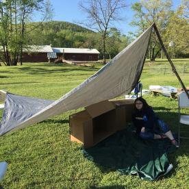 practice building shelter
