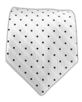 The Tie Bar Hot Dots White - $15