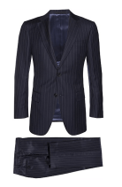 Suit Supply Navy Stripe Napoli Suit