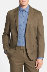 Vince Camuto Slim Fit Cotton & Linen Blazer, $295
