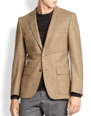 Billy Reid Virgin Wool Dorsey Blazer in Rust