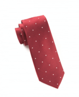 The Tie Bar Grenafaux Satin Dot Tie