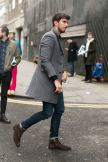Awesome dude in gray overcoat