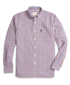 Brooks Brothers Red Fleece Gingham Sport Shirt