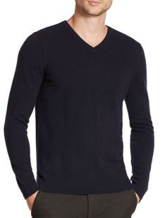 Vince Navy V-Neck Sweater