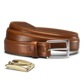 Allen Edmonds Brown Poplar Dress Belt