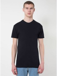 American Apparel Black Sheer Jersey Short Sleeve Summer T-Shirt