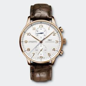 IWC Brown Strap Chronograph Automatic IW371480